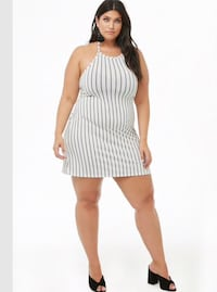 Cute halter top striped white and black dress. Calgary, T3G 4E1