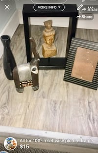 All for 10$-in set vase picture frame elephant and Buddha-great set for decoration London, N5W 6E2