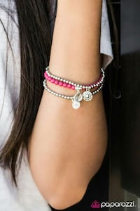 silver and pink beaded charm bracelts New Jersey, 08094