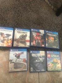 six assorted PS4 game cases Compton, 90221