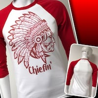 CHIEFIN' Raglan tees available  1958 km