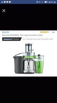 stainless steel Breville juice extractor screenshot Toronto, M4H 1L7