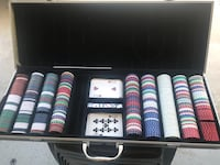 Large case poker chips, cards and dice Anaheim, 92801