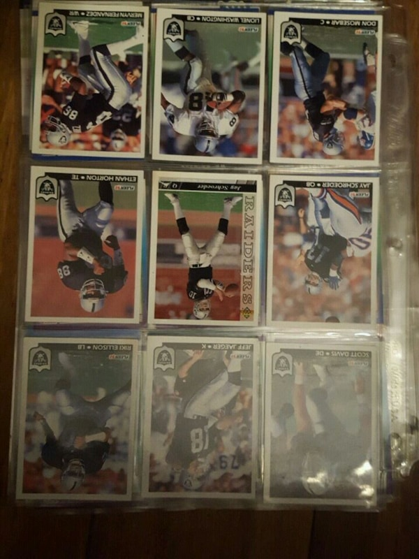 nine baseball player trading cards