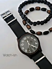 Mens watch with wood bracelets  Revere, 02151