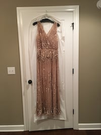 Formal dress gold sequined size 12