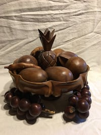 Beautiful wooden bowl with fruit Falling Waters, 25419