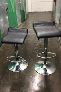 two black leather bar stools Fort Myer, 22211