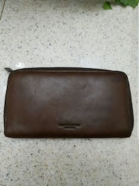 Chocolate brown leather bi-fold wallet Brampton