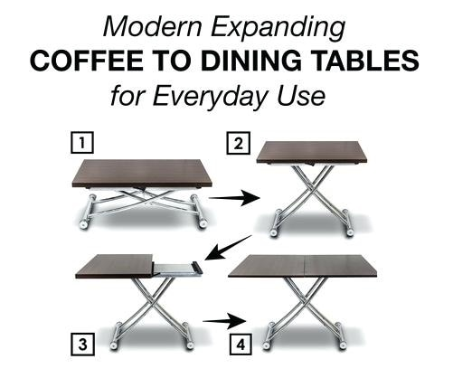 EXPANDABLE TABLE Coffee/Dining Table.