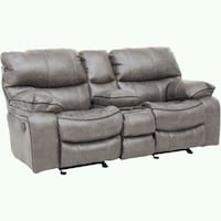 gray leather 2-seat recliner sofa Denver, 80210