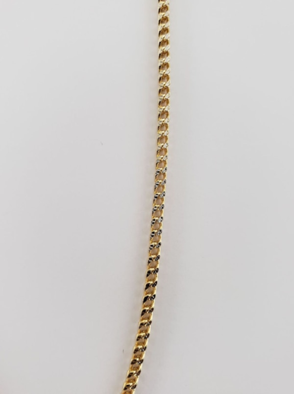 10k Yellow Gold Two-Toned Franco Chain 2