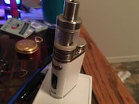 White variable box mod with atomizer