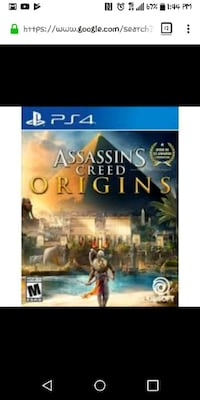 Sony PS4 Assassin's Creed Origins case screenshot Wilkes-Barre Township, 18702