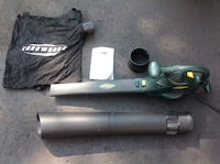 Yardworks Electric Blower/Vac with Bag, 9 Amps. The Nation / La Nation, K0A 2M0