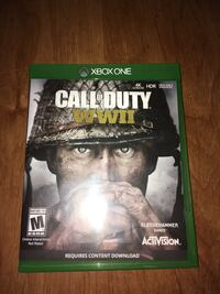 Call of Duty WW2 Xbox one with 1 year warrantee  North Haven, 06473