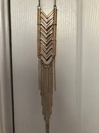 Gold long necklace  1 km