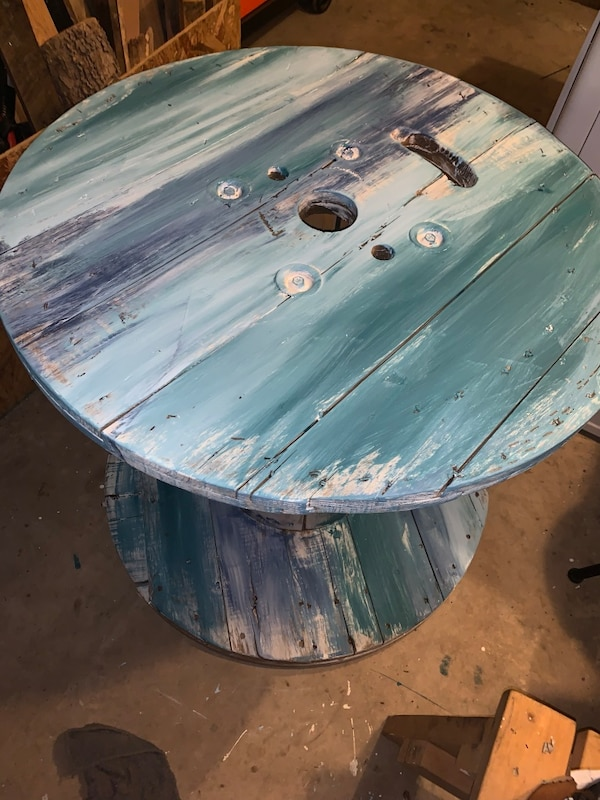 Painted Wooden Spool