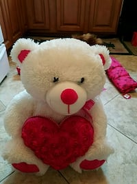Valentine plush bear with pink heart brand new Toms River, 08753