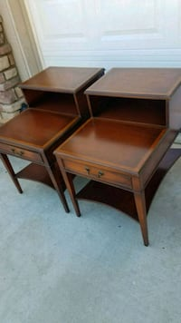 two brown wooden side tables Wildomar, 92595