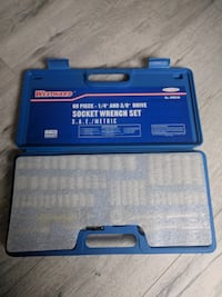 """3/8"""", 1/4""""Drive SAE/Metric Chrome Socket Wrench Set, Number of Pieces: 60"""