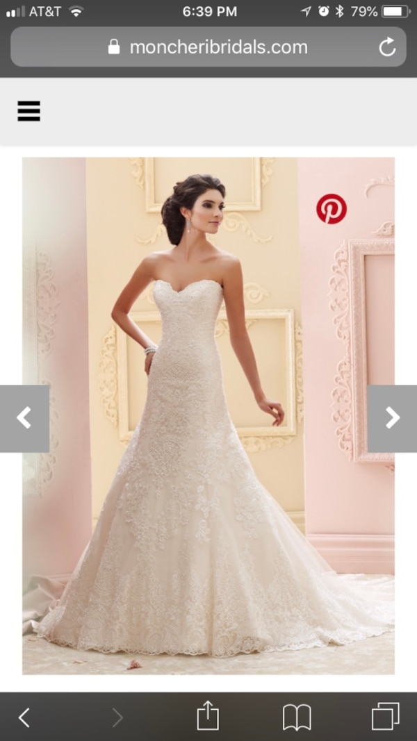 Used David Tutera Plus Size Wedding Dress Katharine For Sale In