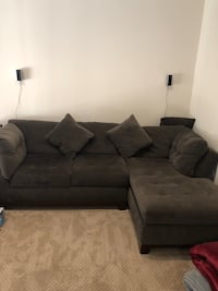 Grey Velvet Sofa {Great Condition} Fairfax, 22033