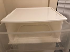 6 Clear Plastic Storage Bins with Pull Out Drawer