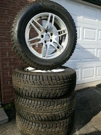 17 inch rims with winter tires lots of thread left Brampton, L6V 3J8