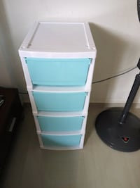 white and blue plastic 3-drawer chest Singapore, 310066