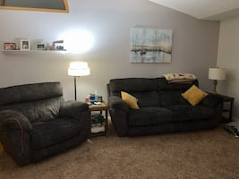 Oversized like new reclining Sofa and chair
