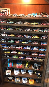 assorted color racing car die-cast collection