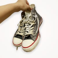 Vintage High Top Grey Converse size 8 (womens)