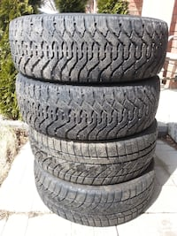 215/55/17 GOODYEAR NORDIC/EVERGREEN WINTER TIRES $390 (OBO) Ajax