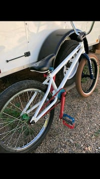 white and red BMX bike Tempe