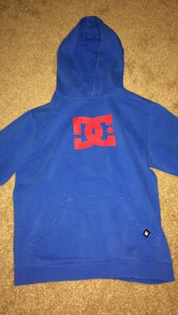 blue and red DC pull-over hoodie London