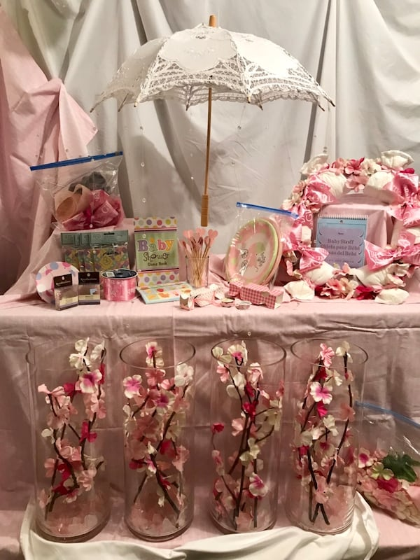Baby Shower Girl, many handmade items 18582971-42c1-4206-9aef-1a6bc2aed319