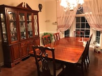 brown wooden dining table set Clifton, 20124