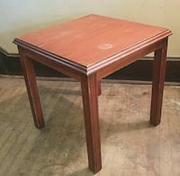 Solid Wood End Table / Side Table - sturdy