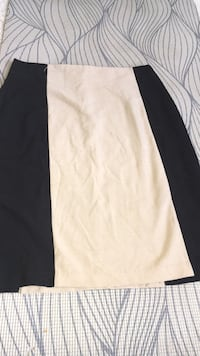 Cream and Black Pencil Skirt 60 km
