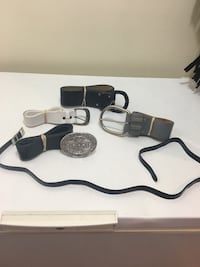 Assortment of 5 Belts sizes S-M