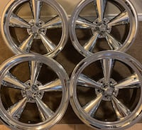 "4 x BRAND NEW 20""x8"" NEVER MOUNTED US MAG CHROME RIMS $$950"