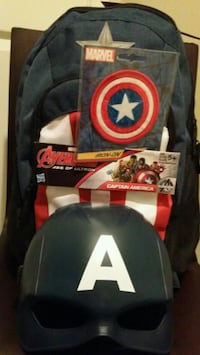 Marvel Captain America BackPack Bundle NEW
