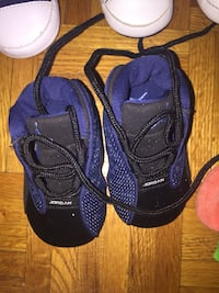 toddler's pair of black-and-blue shoes Toronto, M9N 3P7