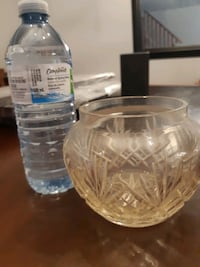 Glass vase and bowl