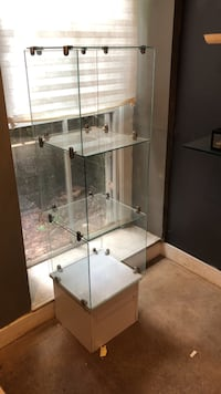 display case -glass with wood base Richmond, 23223