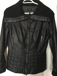 Black leather zip-up jacket Mount Pearl, A1N