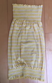 Yellow and white striped tube dress - Size small Vancouver, V5Y 2V6