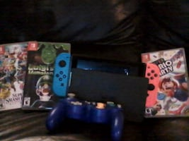 Nintendo Switch w/ 3 games