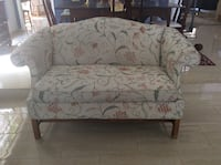 Needle point sofa with green and red, pillows included Phoenix, 85048